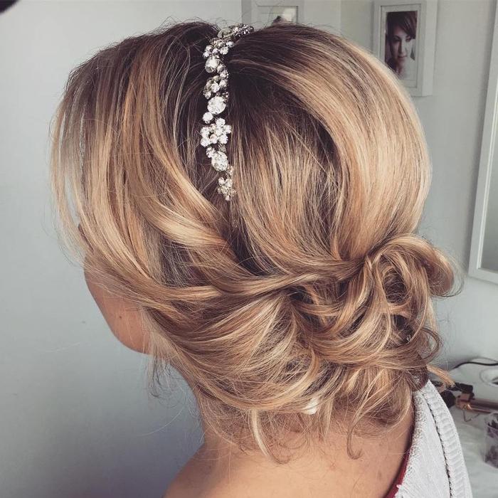 Brautjungfern Frisur ein Swarowski Haarschmuck Ombre Look Steckfrisur
