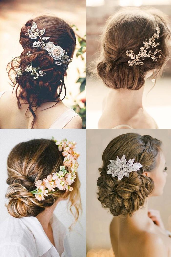 Frisuren mit Blumen in den Haaren Frisur Brautjungfer Hochsteckfrisuren sehr elegant
