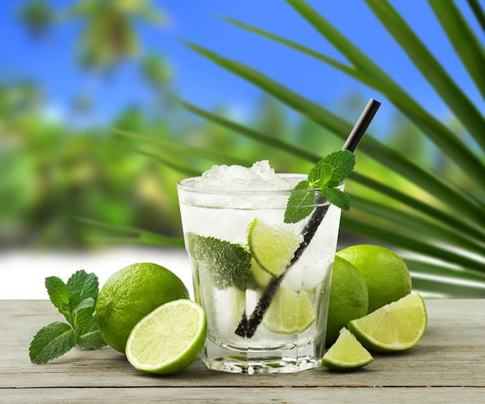 coole drinks, cocktails selber machen, limette, sodawasser, pfefferminze
