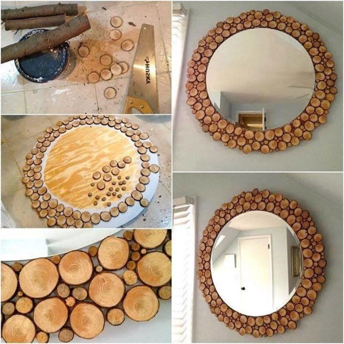 deko holz spiegel zweige dekorationen holzstücke dekoideen mit holz einrichtung idee