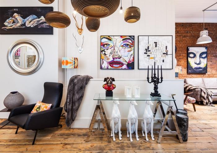 dekoartikel aus holz bunte gestaltung des zuhauses wohnung design ideen bilder hängende lampen