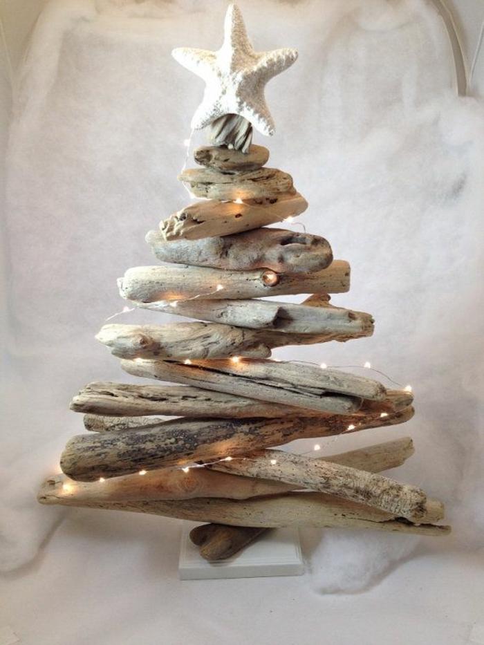 dekoartikel aus holz dekoideen gestaltung design weihnachten licher leuchte stern auf dem baum