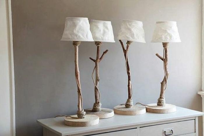 holzdeko dekorative stehlampen aus holz hölzerne gestaltung ideen für das interieur zu hause