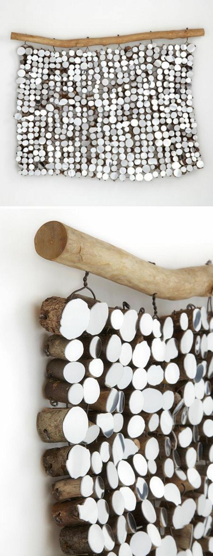 dekorative palette aus holz kleine hölzerne stücke dekoideen für die wand wanddeko selber machen