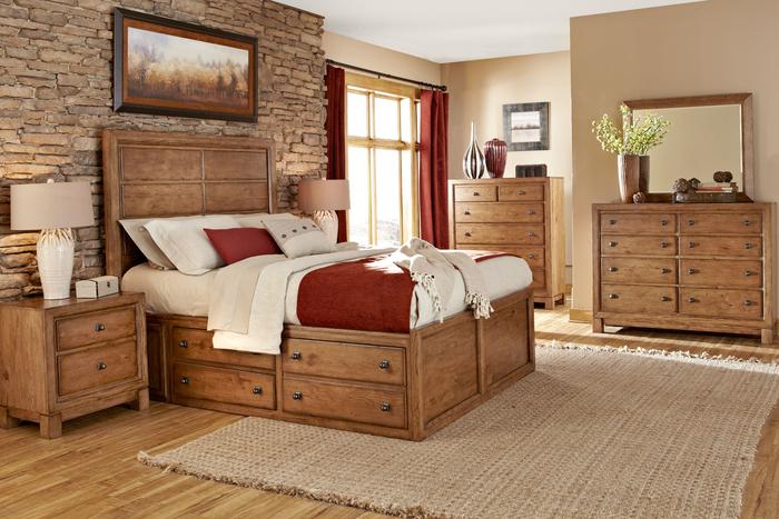Schlafzimmer mit biologischen Holzmöbeln einrichten, Massivholzbett für erholsamen Schlaf