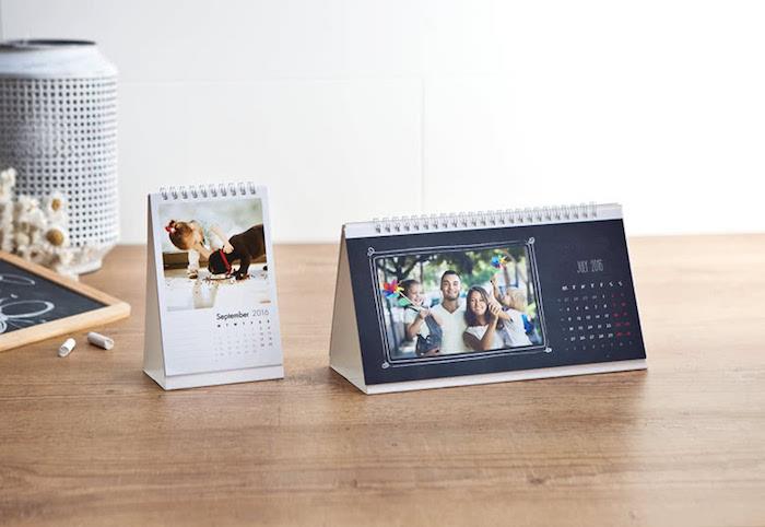 foto-tischkalender selbst gesalten, schreibtisch dekorieren, familienfotos