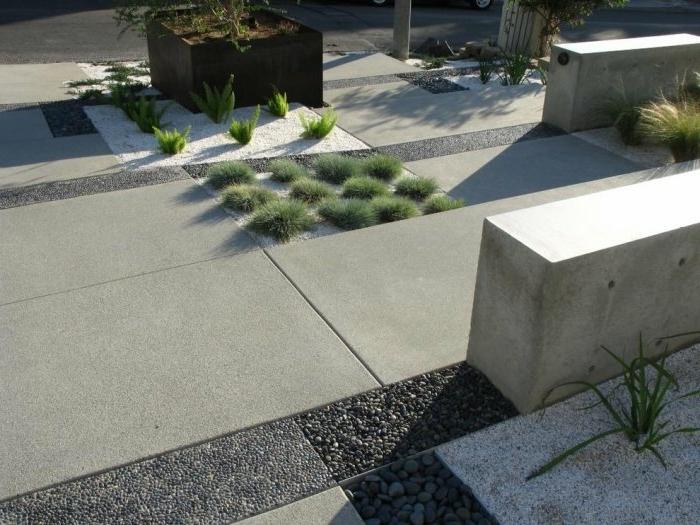 moderne Gartengestaltung - so wenig grün wie möglich, mehr Beton