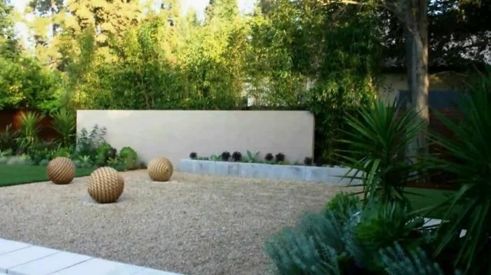wie eine Wüste und Grün im Garten zu kombinieren - moderne Gartengestaltung