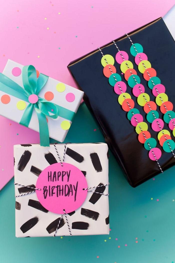 drei Geburtstagsgeschenke die inspirieren mit ihren originellen Designs - Geschenke verzieren