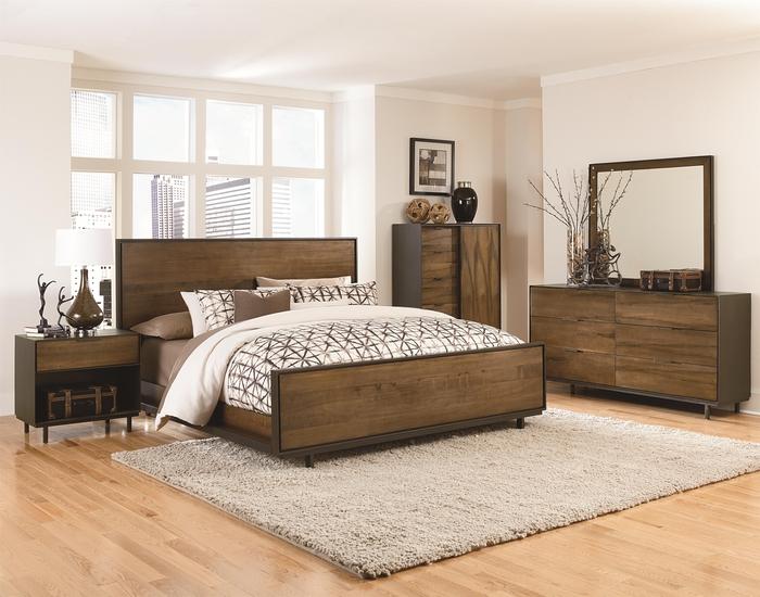 Massivholzbett für guten Schlaf, gemütliches Schlafzimmer mit biologischen Holzmöbeln