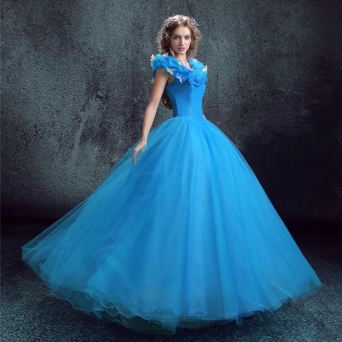 blaues Kleid von Disney Prinzessin ganz prächtig Kindheitshelden aus Disney