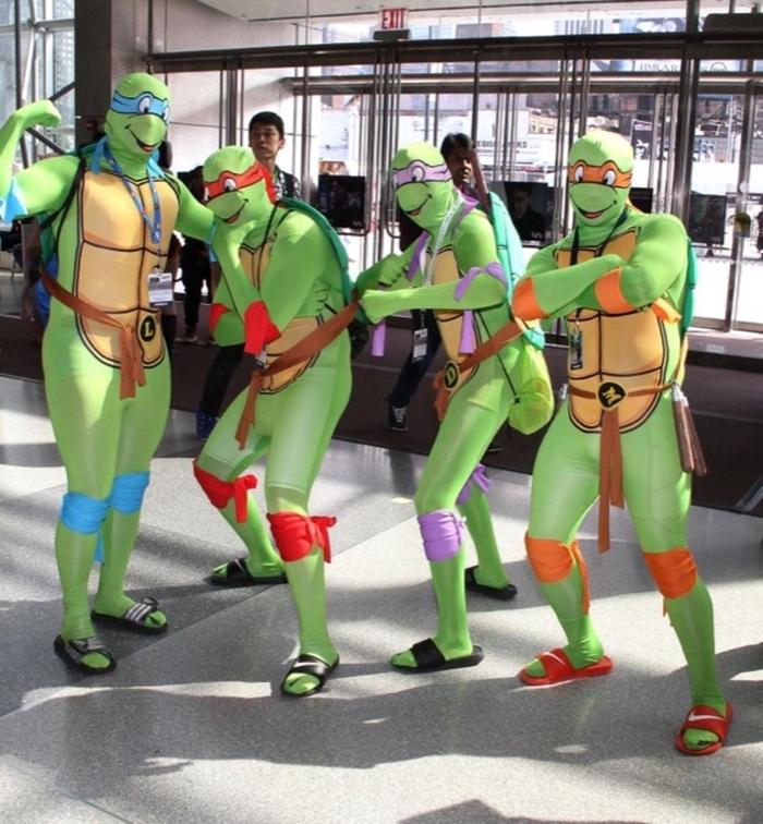 Teenage Schildkröten sind perfekt für Jugendliche Kostüme mit den entsprechenden Farben - Kindheitshelden