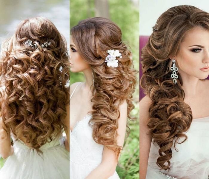 Hochzeit Haare mit einem perlen Akzent drei verschiedene Vorschläge