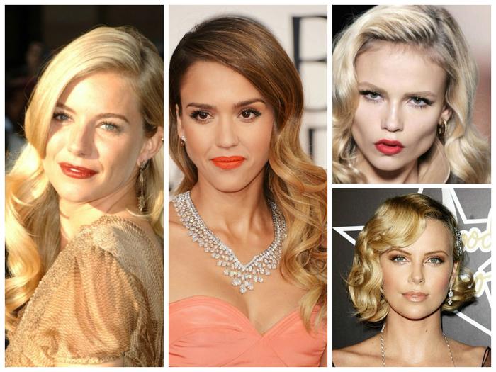 einige Vorschläge aus bekannten Frauen für die Frisuren ihrer Brautjungfern