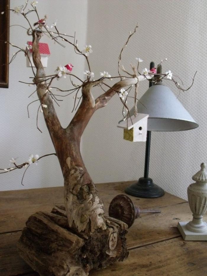 holzdekoration schöne ausführung ideen zum gestalten selber machen holzdeko lampe aufhänger