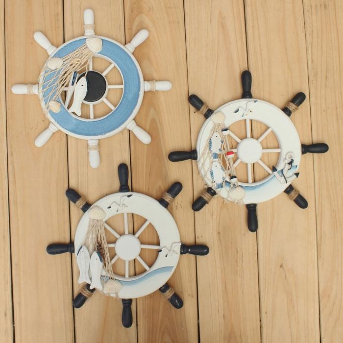 holz deko für draußen meer meeresambiente zu hause gestalten deko ideen zum inspirieren schiffmotive