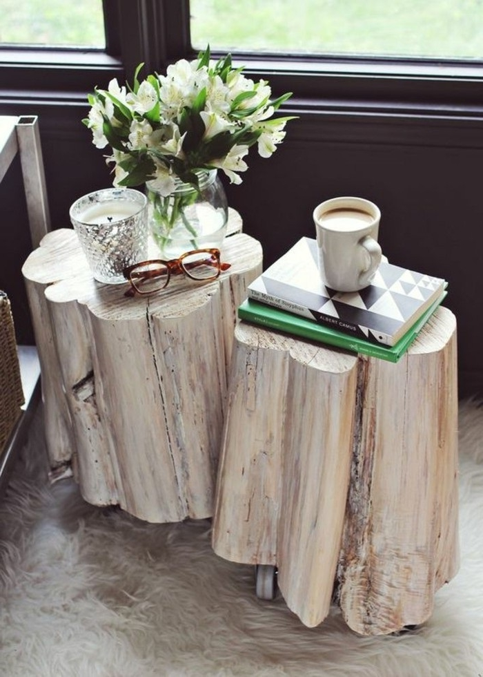 holz deko für draußen garten deko kann auch zu hause stehen schöne dekorationen in weiß natur material