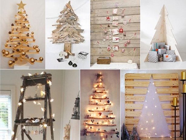 holzdekoration dekoideen inspiration zu weihnachten kreative weihnachtsbäume gestaltng ideen leuchte