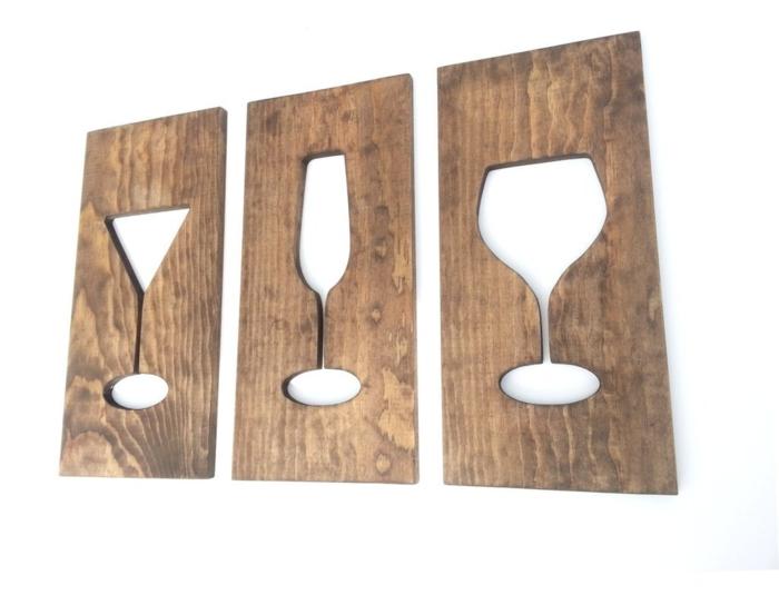 holz deko sleber machen deko ideen zum gestalten gläser holz hölzerne dekorative ideen zum gestalten