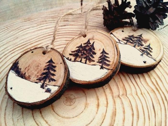 holz deko selber machen hölzerne deko elemente dekorationen für schöne weihnachten bäume deko