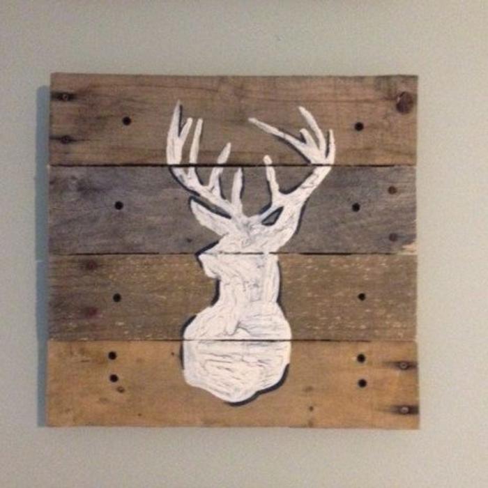 dekoration selber machen tolle dekoration für die wohnung bild aus holzplatte und gemaltes elch