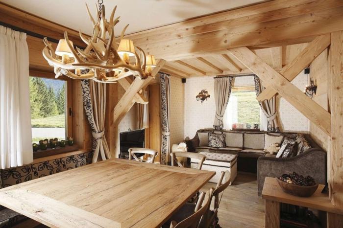 dekoration selber machen deko ideen fürs zuhause hölzerne lampe tisch sofa fenster dekorationen