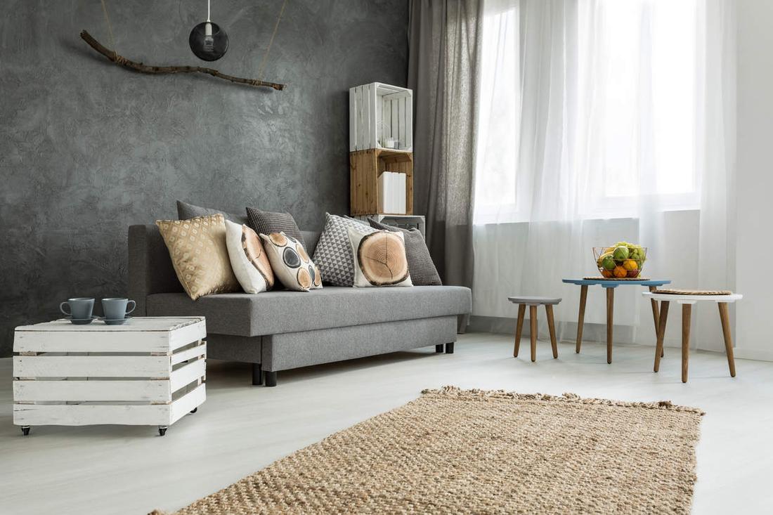 Innendesign Trends 2017 rustikales Wohnzimmer