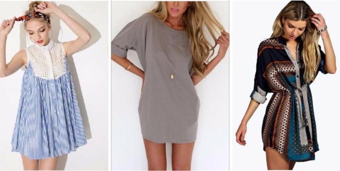 hemd kleid drei schöne vorschläge für den sommerlichen look von der modernen frau streifen bunte muster