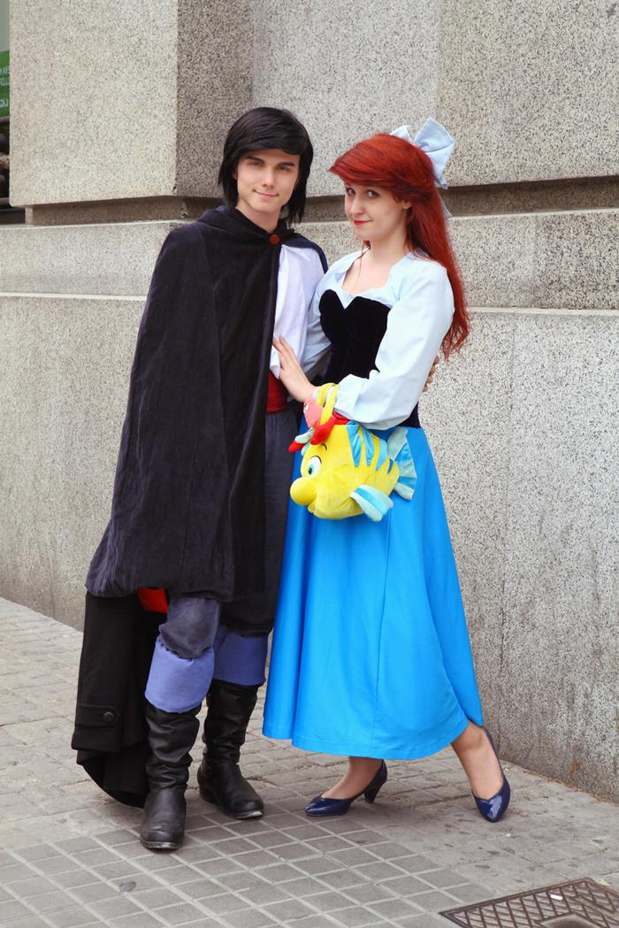 Mottowoche Kindheitshelden Ariel und der Prinz aus der berühmten Disney Animation