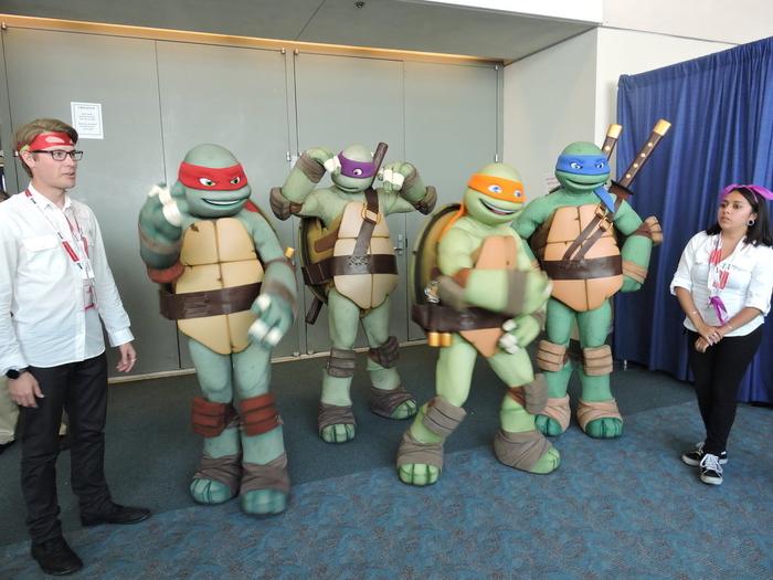 Die Ninja Schildkröte mit Ihrer Freunde Mottoparty Kindheitshelden Ideen zur Verkleidung