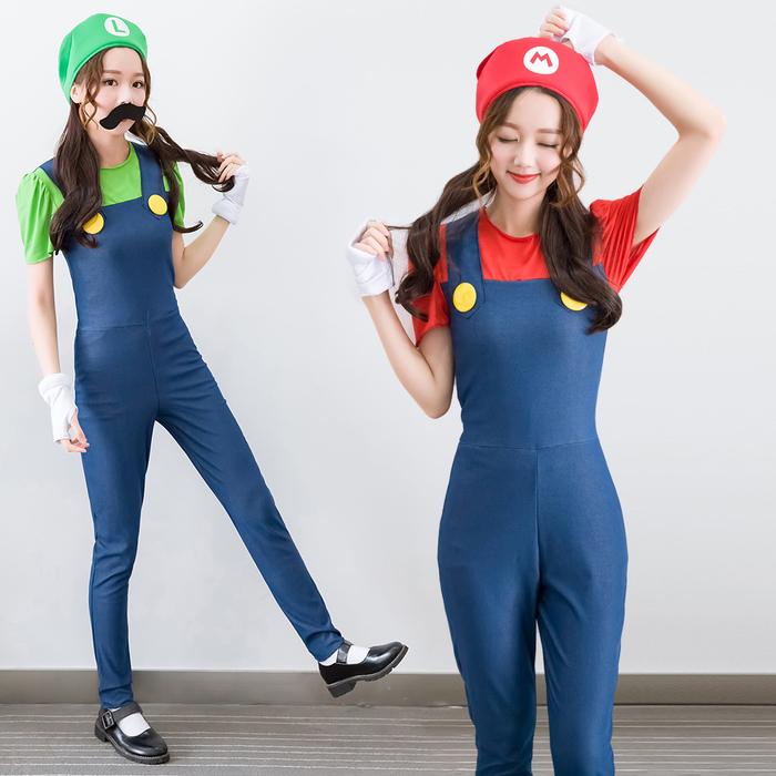 Mario Bros oder Mario Schwester Kindheitshelden Kostüm selber machen