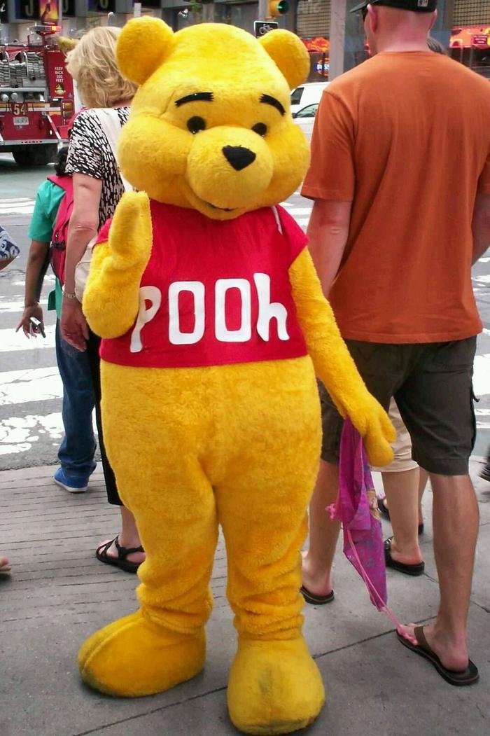Ein ganzen Kostüm von Pu der Bär Kindheitshelden Kostüm selber machen