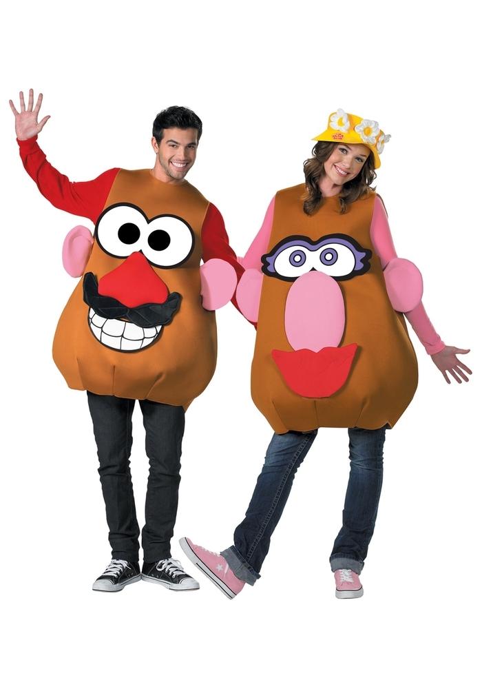 Kindheitshelden 90er zwei bekannte Kartoffel für die Mottowoche verkleiden