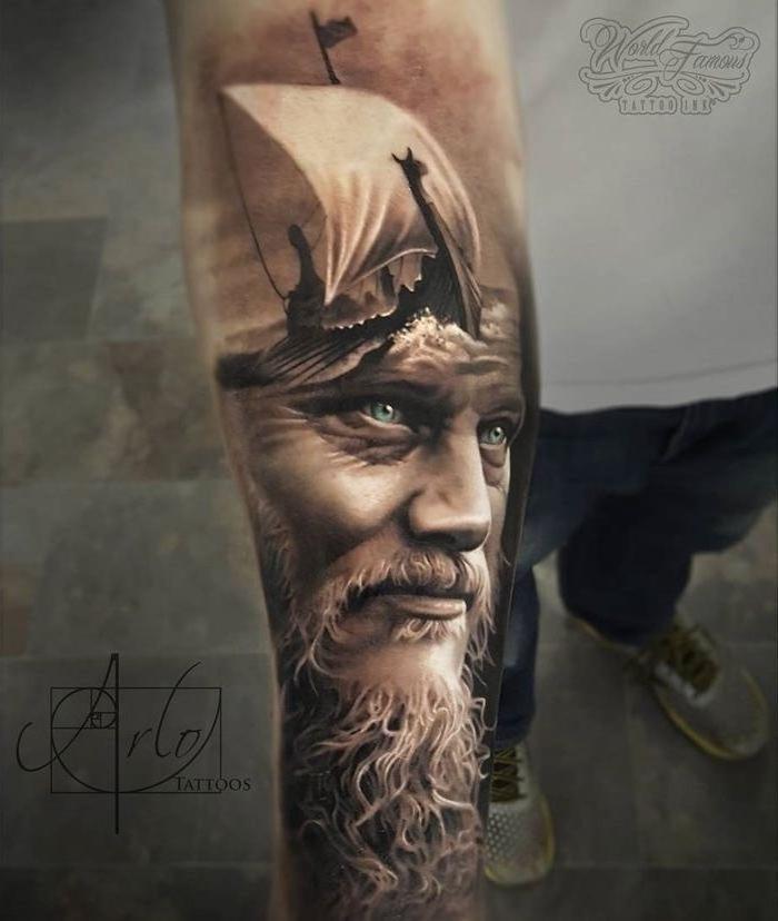 No Quarter Tvshow Time: 1001 Coole Und Realistische Viking Tattoos Zum Inspirieren