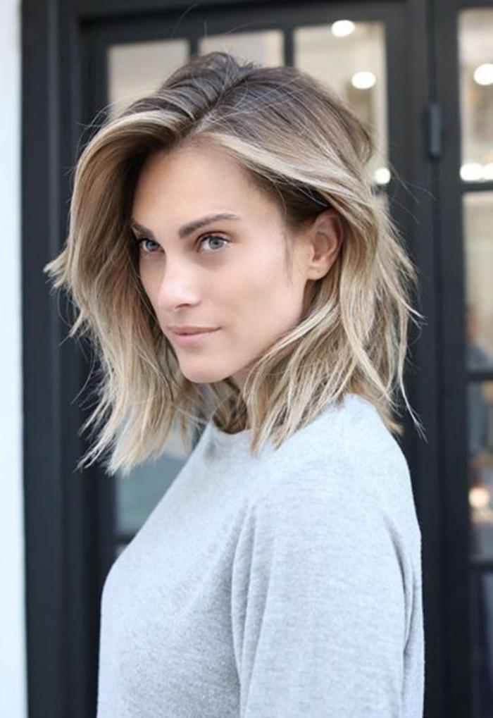 frisur graue strähnen