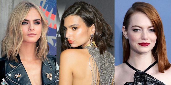 frisuren frauen, moderne haarschnitte 2017, blonde, rote und schwarze haare