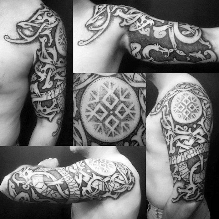 tattoos fr den oberarm tattoo ideen mann tattoo motive. Black Bedroom Furniture Sets. Home Design Ideas