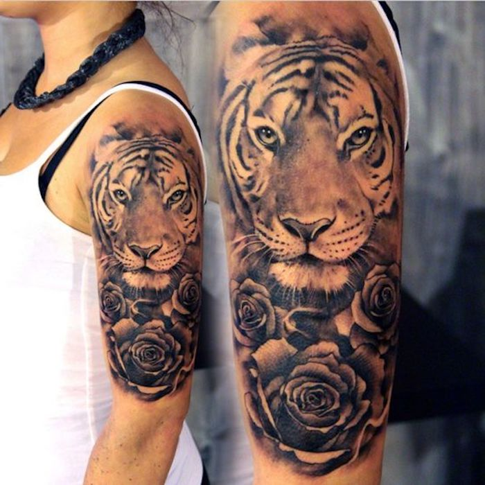 1001 ultra coole tiger tattoo ideen zur inspiration. Black Bedroom Furniture Sets. Home Design Ideas