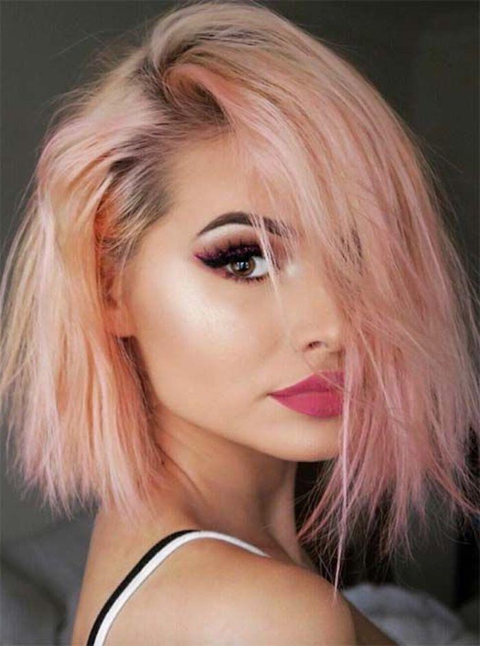 Braun Rosa Haare