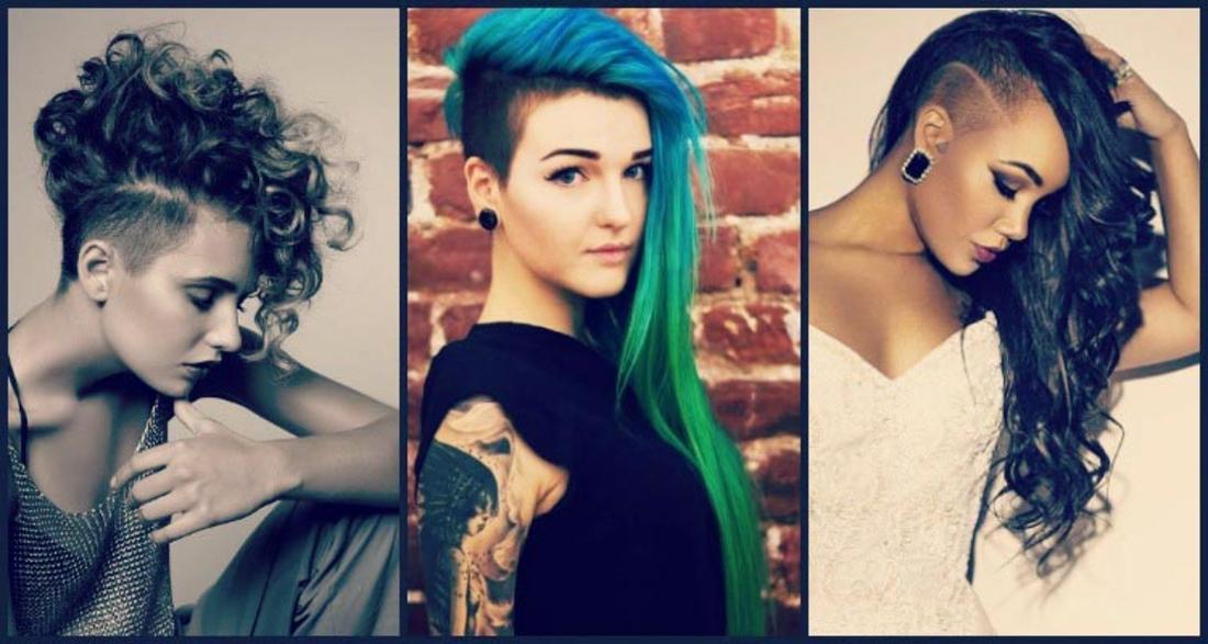 Undercut Frauen - drei Frauen mit verschiedenen Interpretationen von Undercut