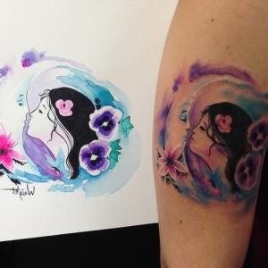 Watercolor Tattoo - Tipps und Tricks zur Pflege