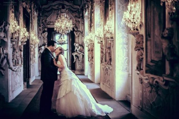 romantische Hochzeit Brautleute heiraten Foto Joachim Schmitt