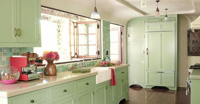 mit green farbe für shabby chic küche vintage design pendelleuchten