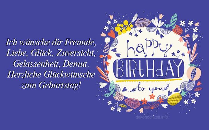 Geburtstagsgrüße: Freude, Liebe, Glück, Zuversicht, Gelassenheit, Demut