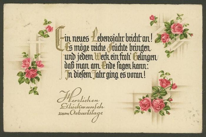 Geburtstagsgrüße, herzlichen Glückwunsch zum Geburtstag, Rosenstrauß aus rosa Rosen