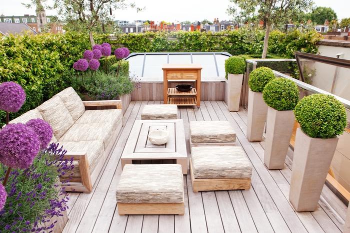 Ideen für Balkoneinrichtung und -bepflanzung, ein Ort zum Relaxen