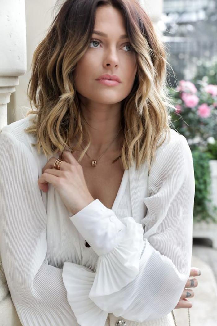 ombre blond frisur für mittellange und kurze haare effektvoll und schön ideen