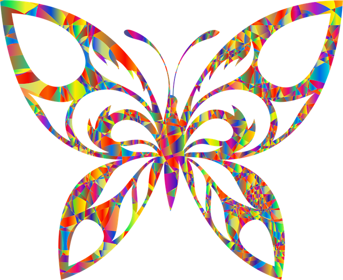 jetzt eine ganz tolle idee für einen sehr schön aussehenden tattoo butterfly mit langen großen bunten flügeln