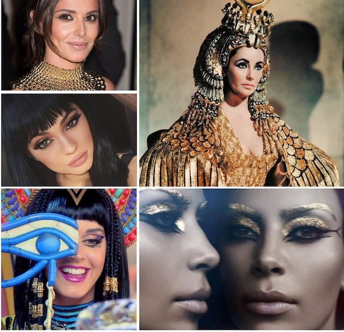 pharaonin ideen und look von fünf verschiedenen frauen katy perry kylie jenner