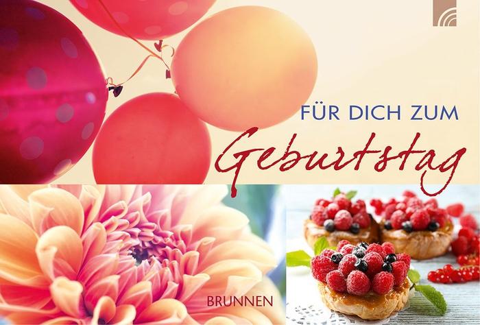 schöne Geburtstagstorte mit Blumen, Ballons und Törtchen, für dich zum Geburtstag
